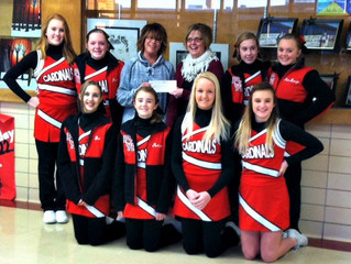 Donation to Plainville Cardinal Cheerleaders