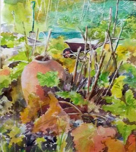 Autumn Allotment (W/c & Pastel) FOR SALE