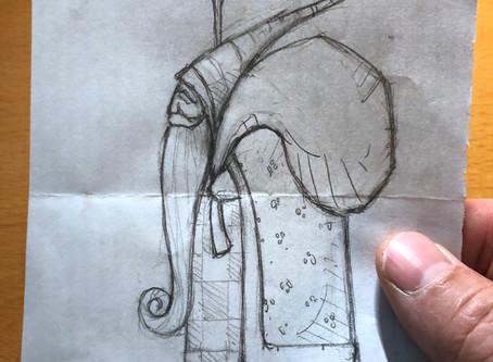 The Spark of an Idea - a Hand carved Santa