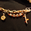 Thumbnail: Jessi - A Fun Camouflage and Hunter Orange Charm Bracelet with Two Bullet Charms