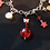 Thumbnail: Vivienne - Bold Red and Black Charm Bracelet with Bullet Charms