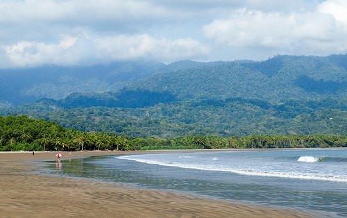 The beach near Uvita, Costa Rica
