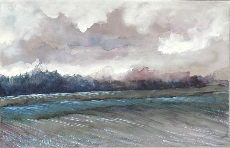 """Evening Over The Field"""