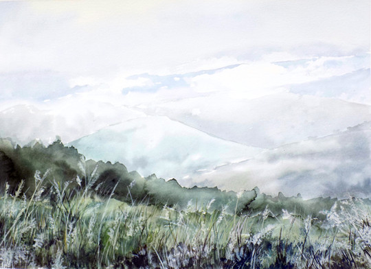 """Mountain Skies"" - Sold"