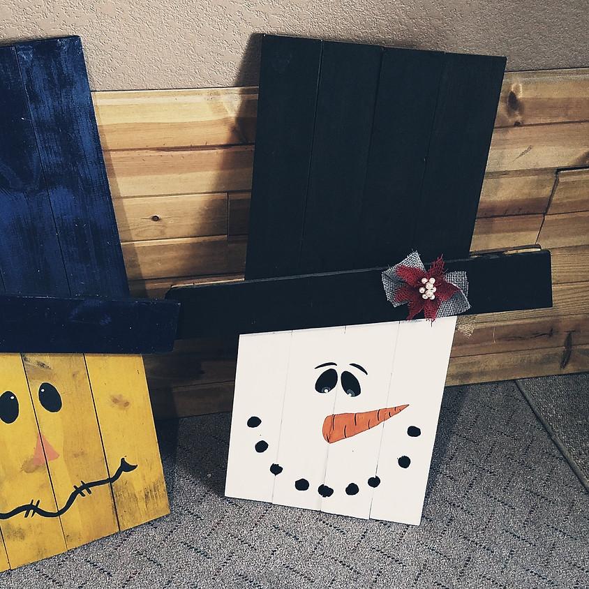 Reversible Scarecrow/Snowman Yard Decor Class