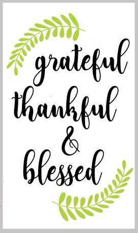 Grateful, Thankful, Blessed