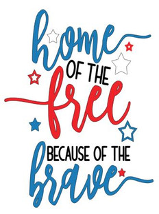 home of the free because of the brave 1.