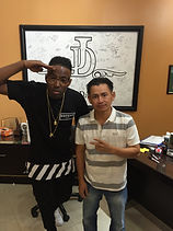 Rapper Austin Martin With Johnny Dang