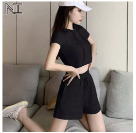 womens hooded sports suit lazada