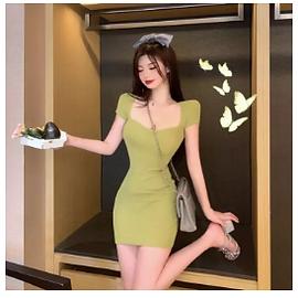 Korean slim dress
