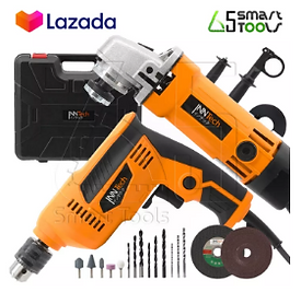 Twin pack grinder and electric drill