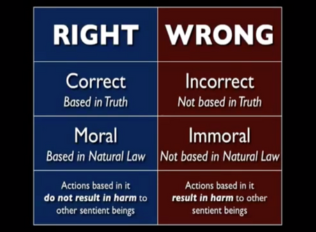"""What is a """"right?""""  What is a """"wrong?""""  What is """"Universal Natural Law?"""""""