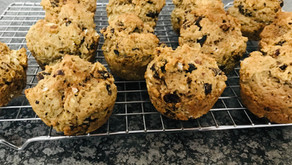 Cinnamon Date Walnut Muffin-scones
