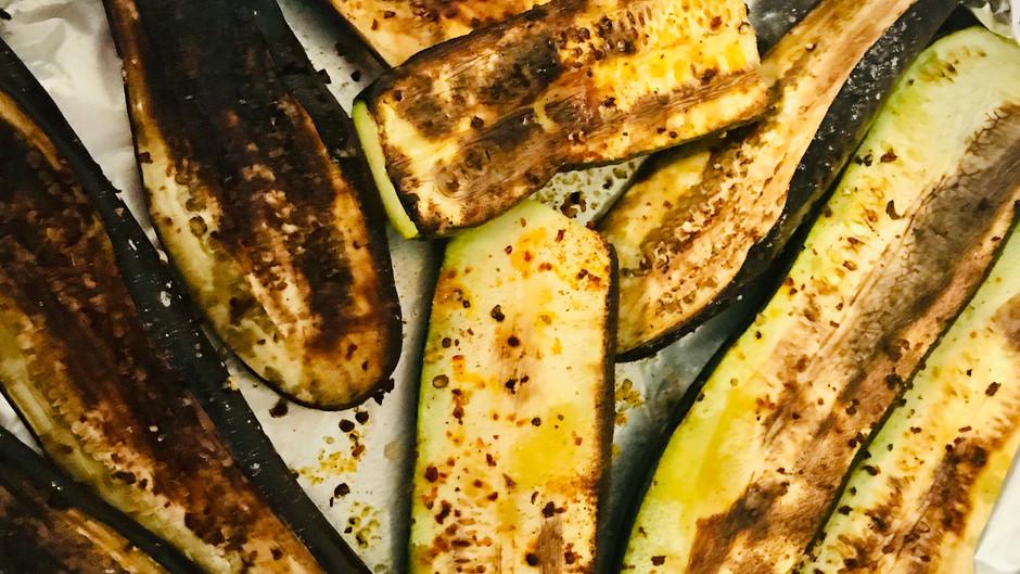 Grilled Zucchini + Eggplant Hummus