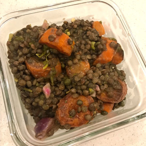Warm Lentil and Carrot Salad with Mustard Vinaigrette