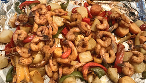 Paprika Roasted Potatoes, Peppers And Shrimp (Sheetpan)