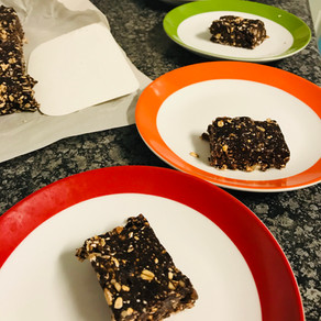 Chocolate Walnut and Cherry Bars