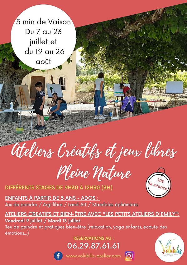 Activités Stages enfants été 2021 Créatifs Pleine Nature.j