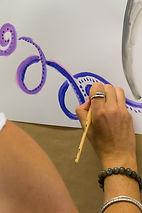 peinture, enfants, vaison
