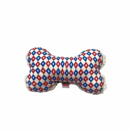 Patriotic Pup Bone Plush Toy