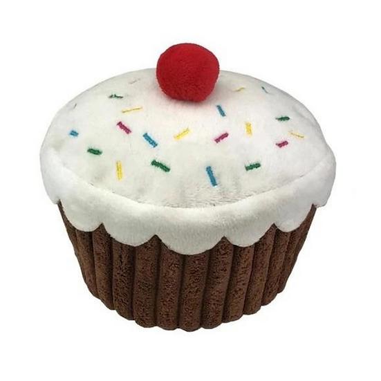 Cupcake Plush Dog Toy