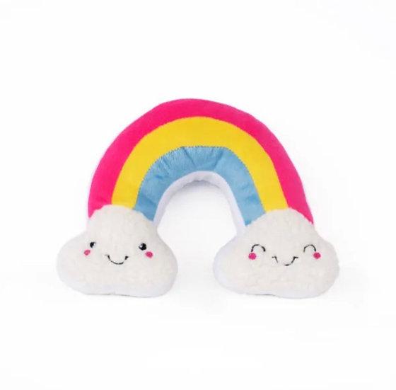 Rainbow Squeaky Plush Toy
