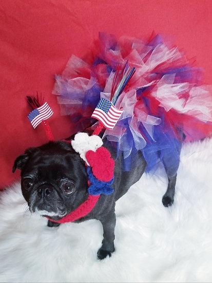 4th of July Dog TuTu