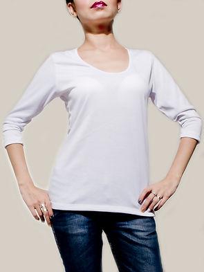 blusa para sublimar manga tres cuartos