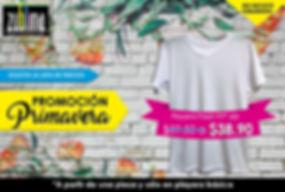 Promoción de Primavera, Descuento de playera fresh fit, 273 kb, promoción sublimado