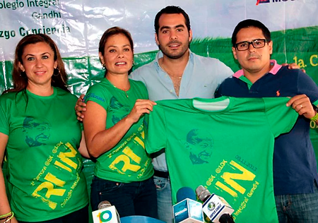 playera sublimada para evento RUN