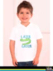 Serigrafía textil, Playera para niño tipo polo, 70 kb, serigrafía