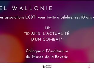 Arc-en-Ciel Wallonie a 10 ans !