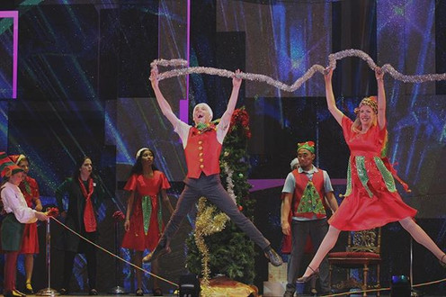Jumping for joy because Elf the Musical