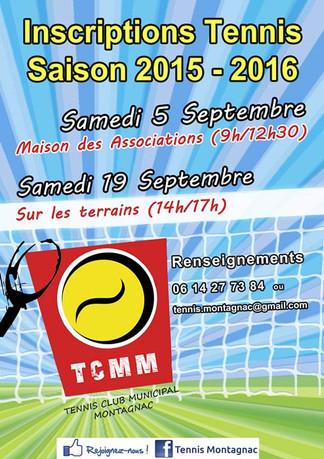 Inscriptions saison 2015-2016