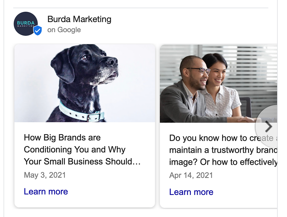 Google My Business Profile posts. Featured marketing blogs. How big brands are conditioning you. Do you know how to create a trustworthy brand image?
