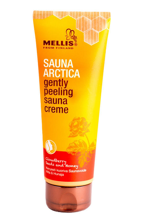 Gently peeling sauna cream with cloudberry seeds and honey