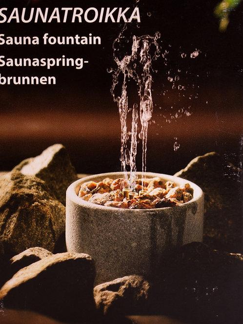 Saunatroikka stove decor, fountain
