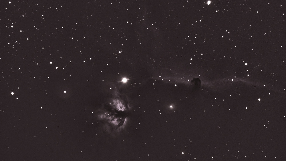Horsehead Nebula and Flame Nebula