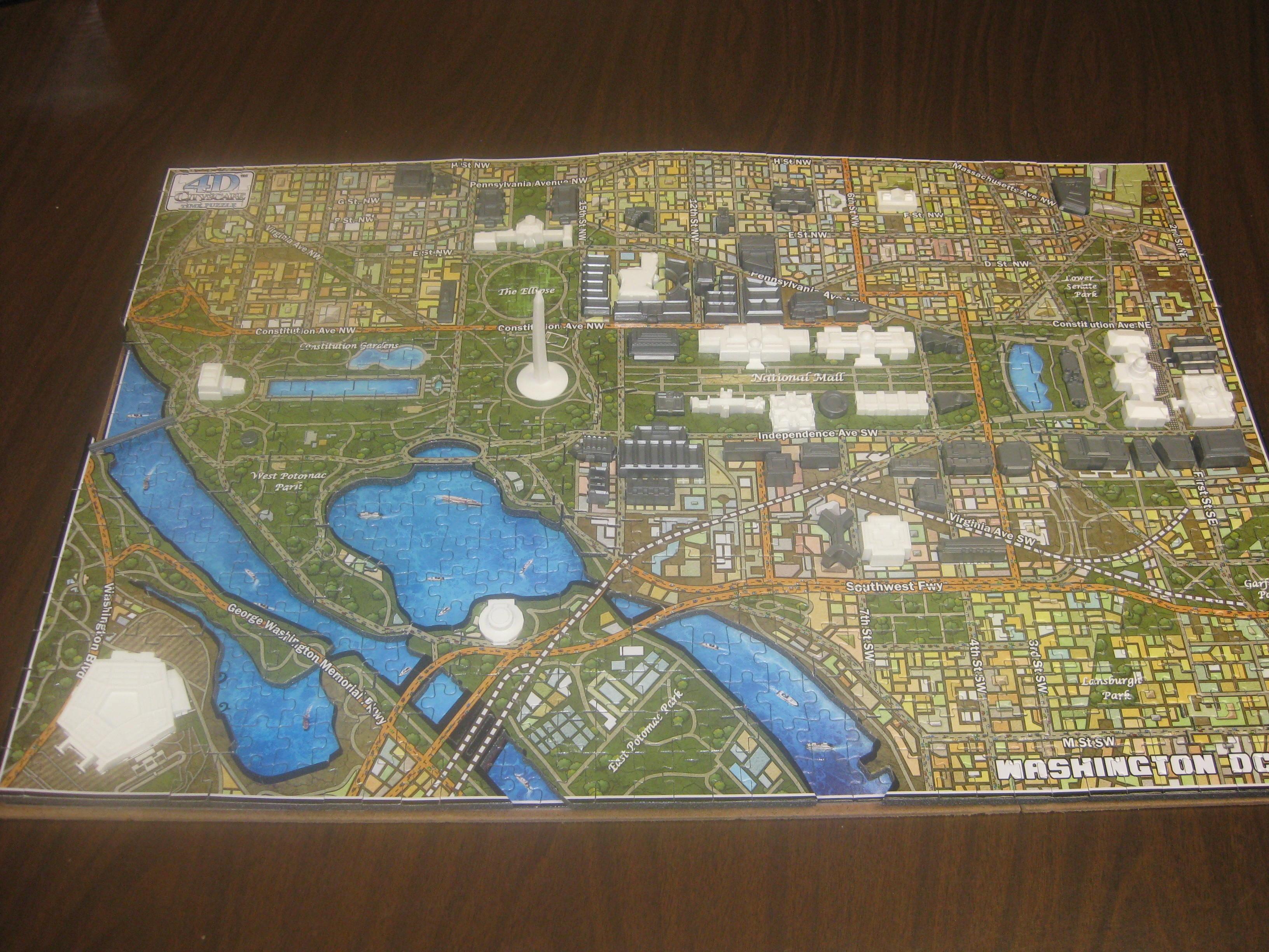 Washington D.C. puzzle completed