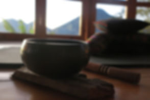 singing bowl, Tibetan bowl, meditation cushion, volcano