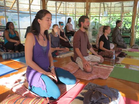 Meditation session, Guatemala 2018