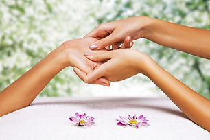 Hands massage in the spa salon in the ga
