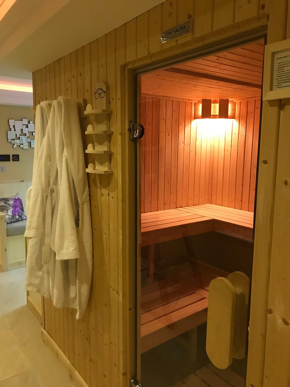 sauna at Sandpiper, thermal spa, how to enjoy a thermal spa