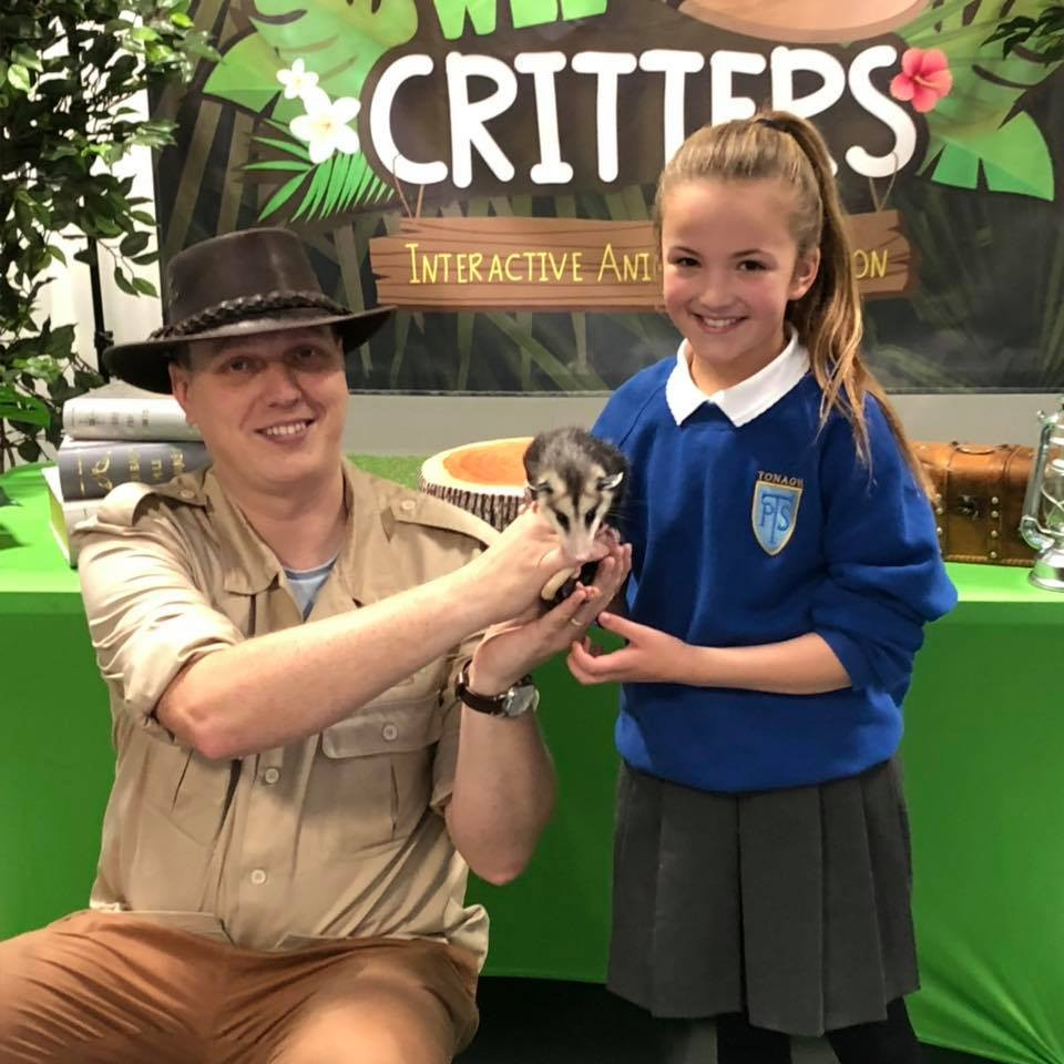 Explorer Allan and Aggie meet a Primary School