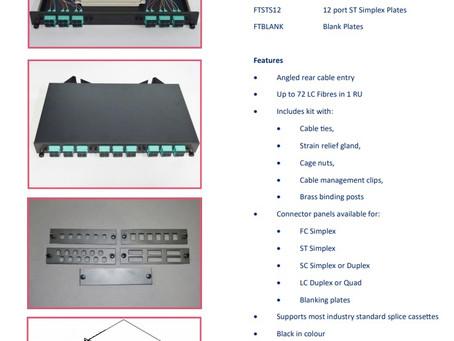 Fibre Tray 1RU - Sliding Kits