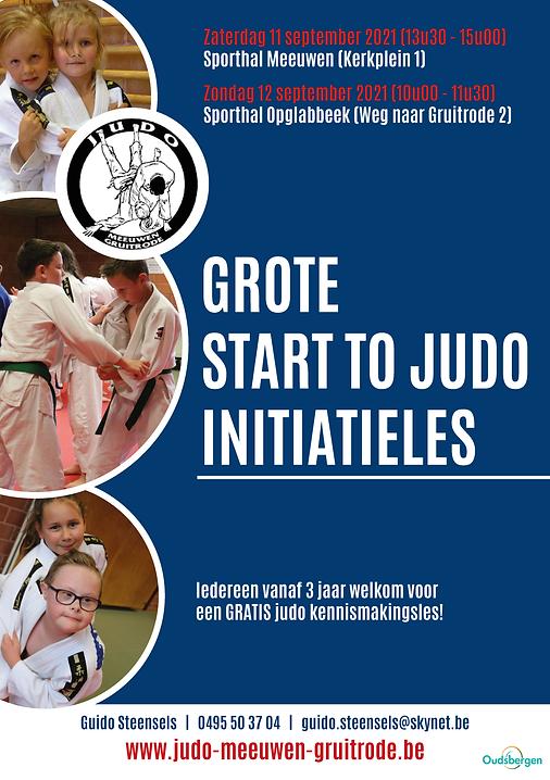 Start 2 judo initiatieles september 2021
