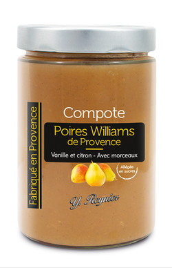 Compote poires williams 580 ml - Reynier