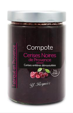 Compote cerises noires 580 ml - Reynier.