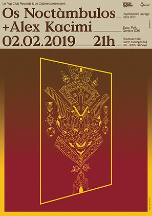 Poster OS Noctàmbulos / Alex Kacimi Limited Ed.
