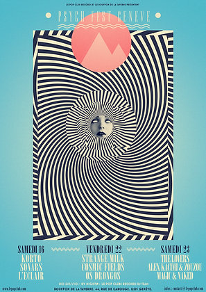 Poster Psych Fest Genève limited ed